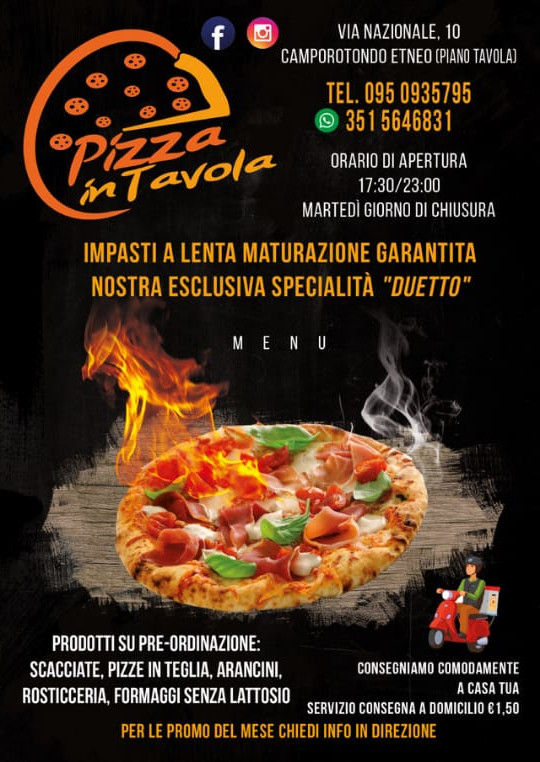 Menù Pizza in Tavola pag 1